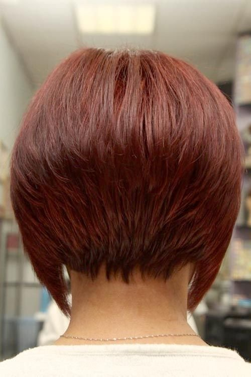 The Best Short Angled Inverted Bob Hairstyles Back View Pictures