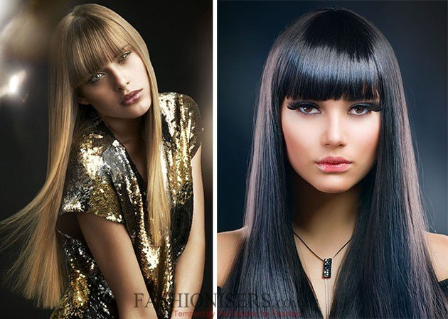 The Best Hairstyles With Straight Bangs Fashionisers Pictures