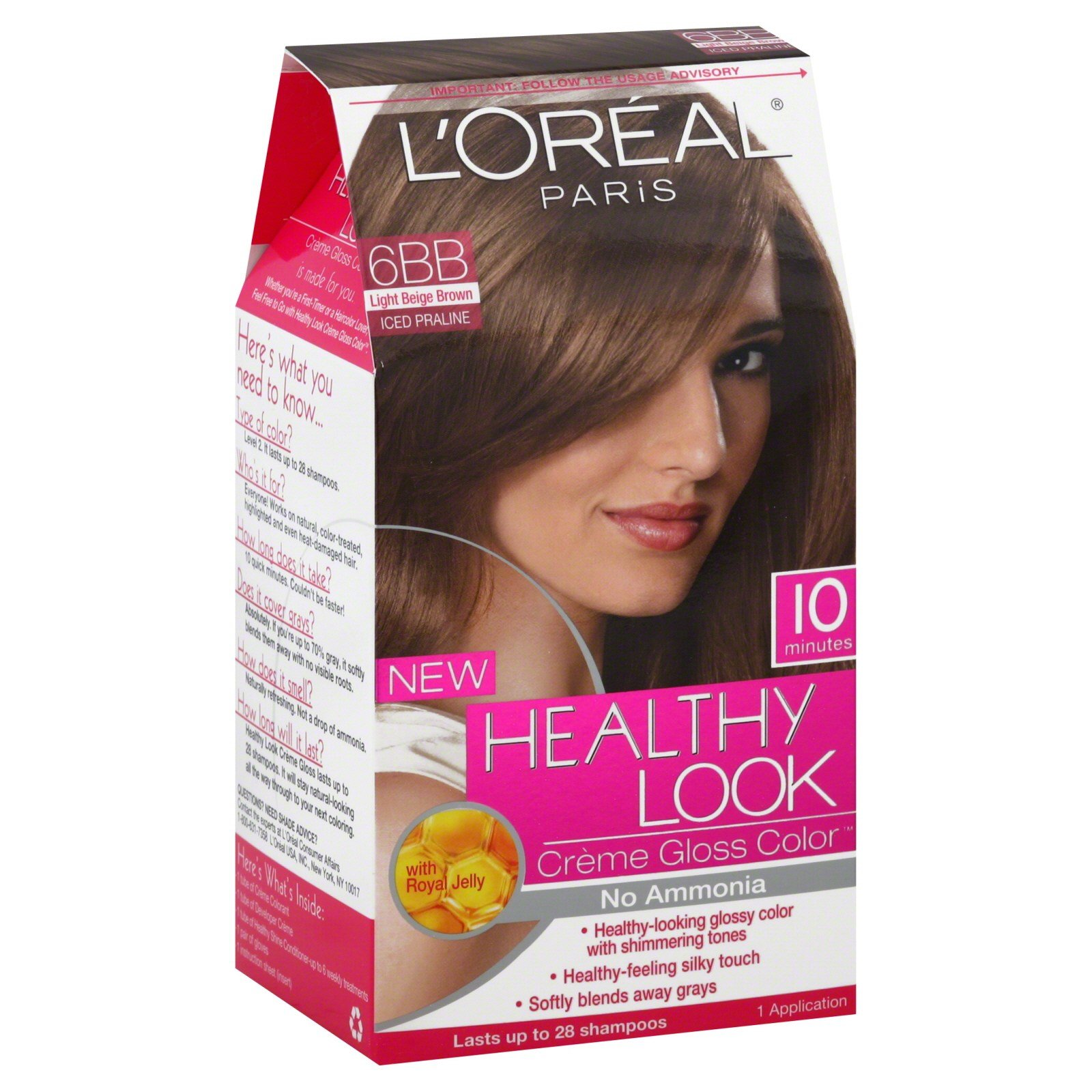 The Best L Oreal Healthy Look Hair Dye Creme Gloss Color 6Bb 1 Application Beauty Hair Care Hair Pictures