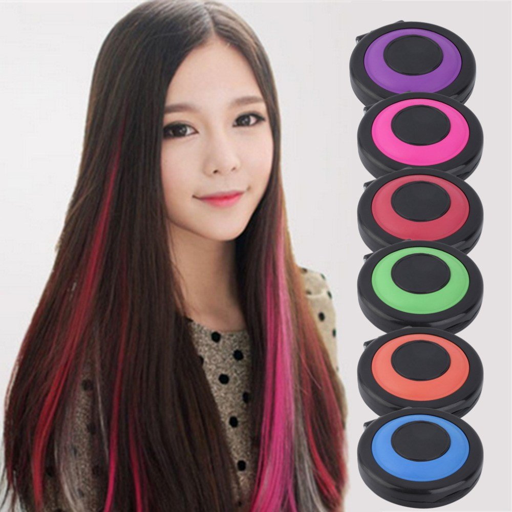 The Best Professional 6 Colors Temporary Hair Dye Powder Cake Pictures