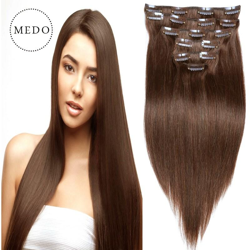 The Best Remy V*Rg*N Brazilian Hair Clip In Real Human Hair Extensions Clip In Hair Extensions Human Hair Pictures