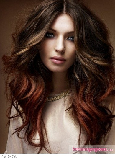 The Best Pictures Long Hairstyles S*Xy Two Tone Long Hairstyle Pictures