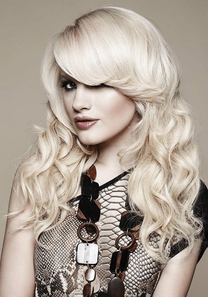 The Best Pictures Sophisticated Long Hairstyles With Side Swept Bangs Long Wavy Hair With Bangs Pictures