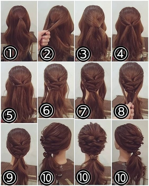 The Best Hairstyles For Short Hair Step By Step Tutorial Step By Step Ideas Pictures