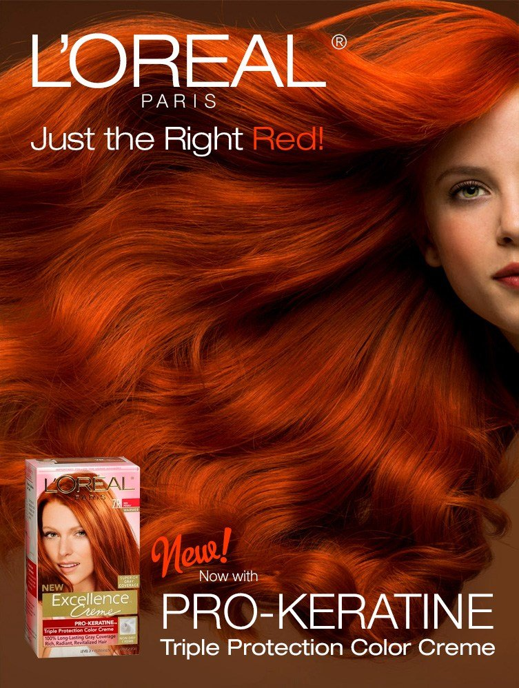 The Best Loreal Hair Color Poster Ad Pictures
