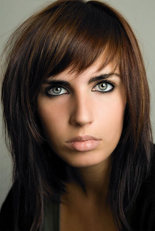 The Best 30 Striking Medium Length Hairstyles With Bangs Creativefan Pictures