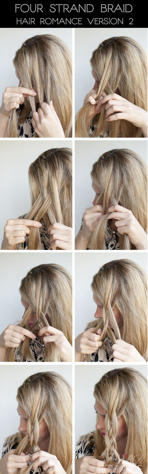 The Best Hairstyle Tutorial Four Strand Braids And Slide Up Pictures