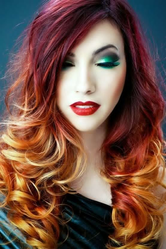 The Best Best Big Red Ombre Hair Dye Set Flaming Hot Ombre Hair Pictures