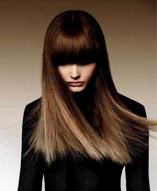 The Best 25 Hairstyles With Long Bangs Hairstyles Haircuts 2016 2017 Pictures
