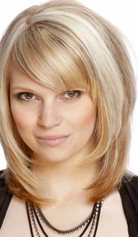 The Best 15 Pics Of Medium Length Hairstyles With Bangs And Layers Pictures