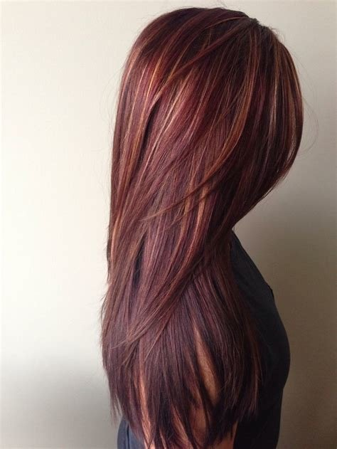 The Best How To Rich Red Hair Color With Golden Caramel Highlights Pictures