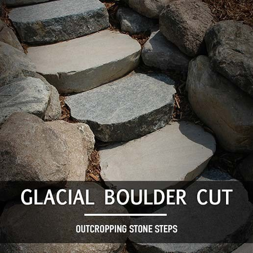 The Best Glacial Boulder Cut Outcropping Steps Landscape Supply Pictures