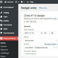 WooCommerce E-conomic Plugin Admin Order Synced