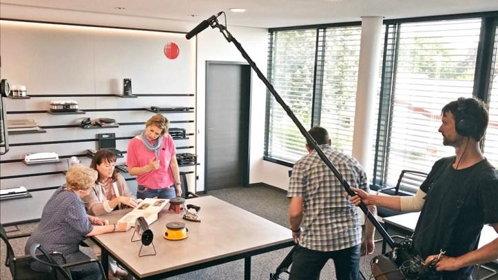 Dreharbeiten-Interview-Firmenchefinnen-Rommelsbacher