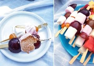 Fruchtspieße mit Marshmallows zum Grillen - Grillspieße mit Obst