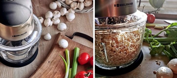 Champignons zerkleinern im Multizerkleinerer - für Veggie Bolognese ohne Tofu