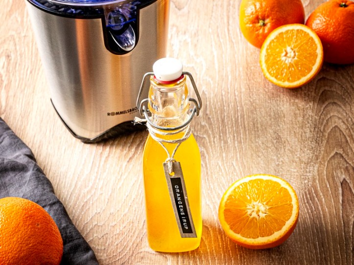 Selbstgemachter Orangensirup - Zitruspresse ZP 60 Rommelsbacher - selbstgemachter Fruchtsirup aus Zitrusfrüchten