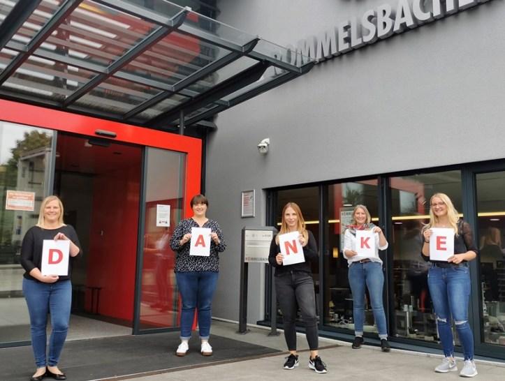 Das Team vom Rommelsbacher Kundenservice sagt Danke