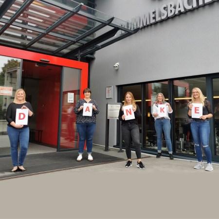Das Team vom Rommelsbacher Kundenservice sagt Danke.