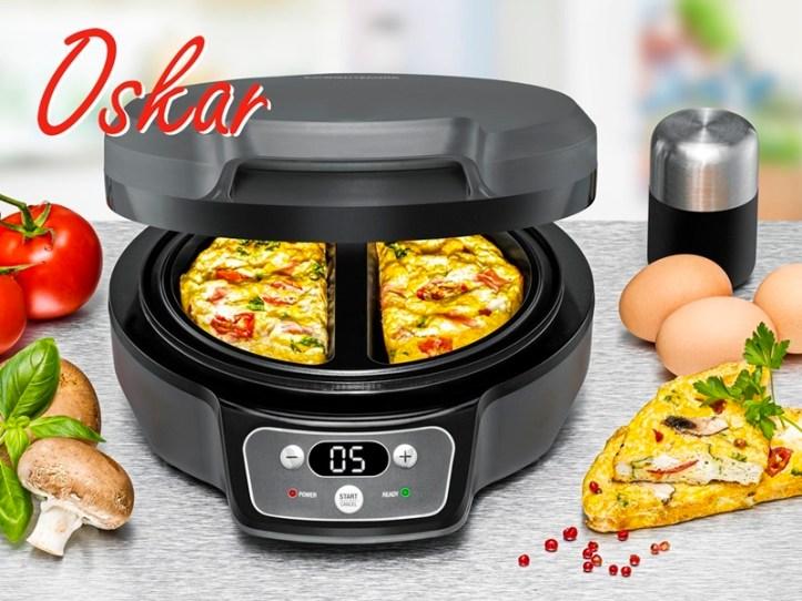 Omeletts backen leicht gemacht mit Oskar, dem Omelett Chef OM 950 von Rommelsbacher