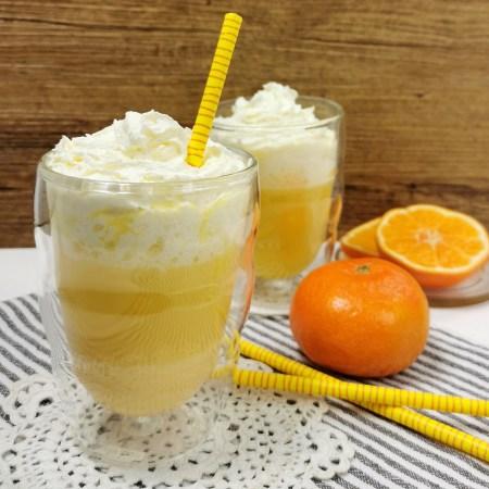 Heiper Engel mit Mandarinen - aus frisch gepresstem Mandarinensaft, Eierlikoer und Sahne - Rezept Rommelsbacher