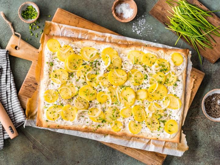 Flammkuchen mit kartoffeln -7 Rezepte: Kreative Resteküche mit Kartoffeln