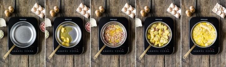Zubereitung Bauernomelett in 5 Schritten - Bild Rommelsbacher