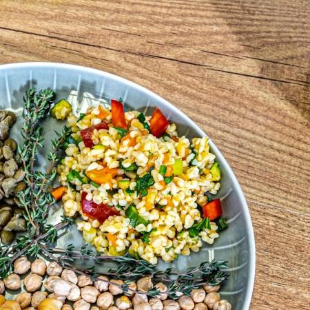 Bulgursalat aus dem Reiskocher
