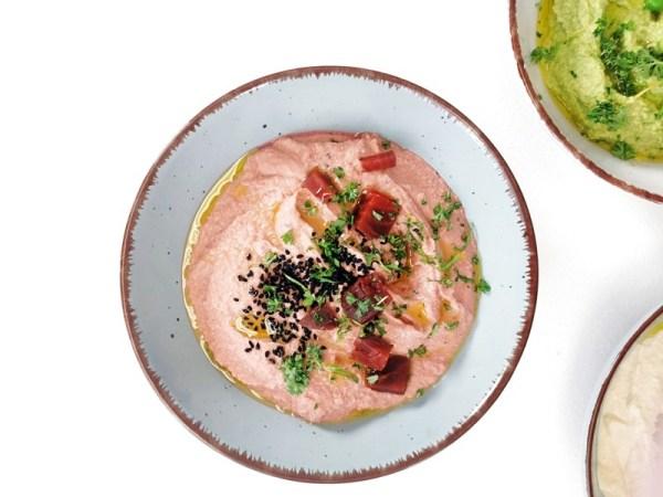 Rote Bete Hummus Rezept Rommelsbacher - Hummus viermal anders
