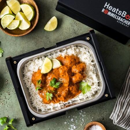 Butter Chicken zum Mtnehmen in der HeatsBox von Rommelsbacher