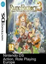 Rune Factory 3 Rom : factory, Factory, Fantasy, Harvest, Download, Romsie