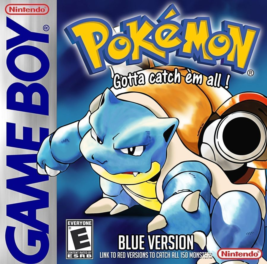 Pokemon - Blue Version (UA) (USA) Game Cover