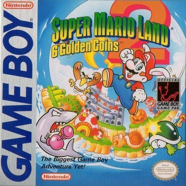 Super Mario Land 2 - 6 Golden Coins (V1.2) (USA Europe) Game Cover