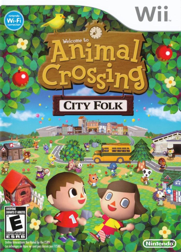 Animal Crossing- City Folk (USA) Game Cover