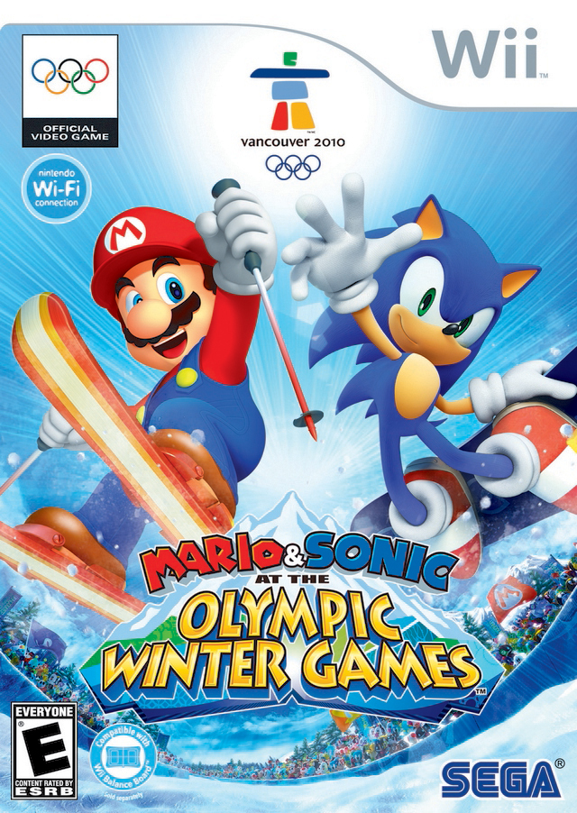 Mario & Sonic At The Olympic Winter Games (USA) Game Cover