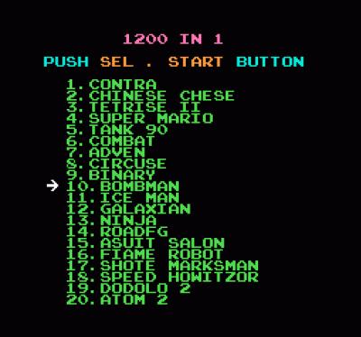 1200-in-1 (Japan) Game Download Nintendo