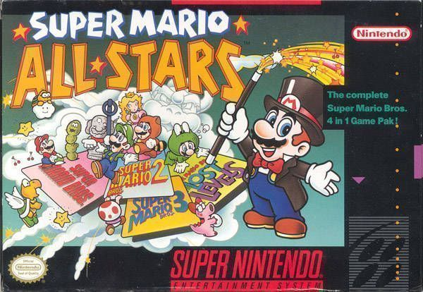 Super Mario All-Stars (USA) Game Cover