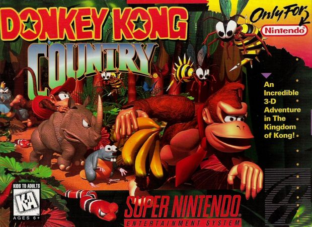 Donkey Kong Country (V1.2) (USA) Game Cover