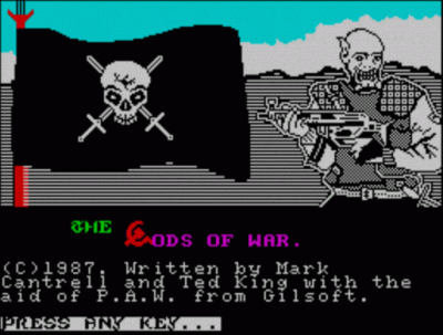 Gods Of War, The (1990)(Zenobi Software)[128K] (USA) Game Download ZX Spectrum