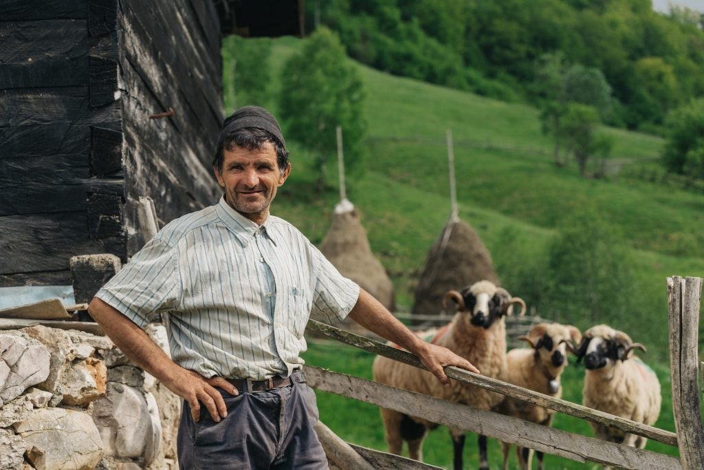 shepherd at his countryside house from a remote vi WEGCAZS