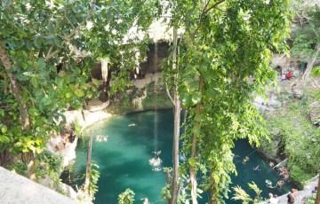 メキシコ・カンクンの「セノーテ・イクキル(Cenote ik kil)」