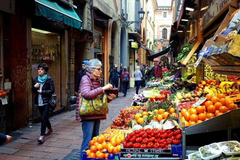 Lokale markt in Bologna