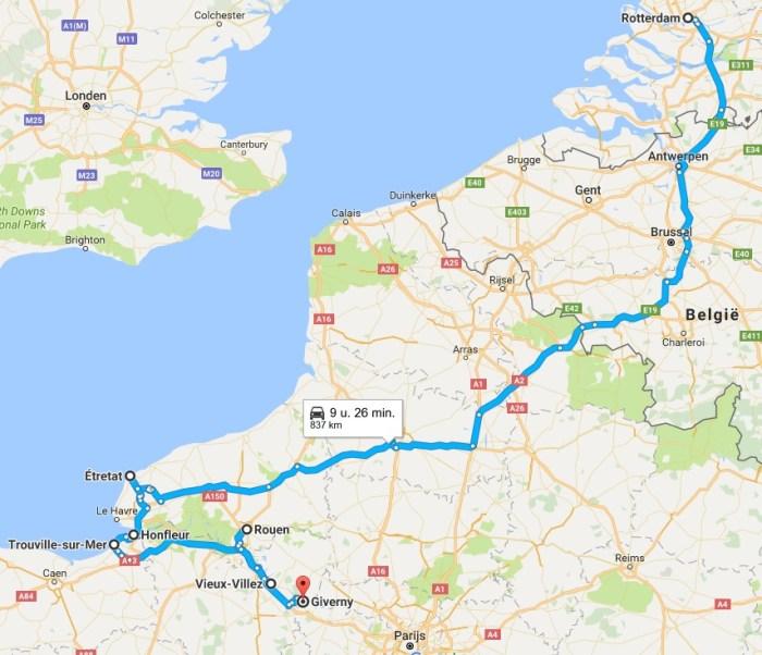 route normandië