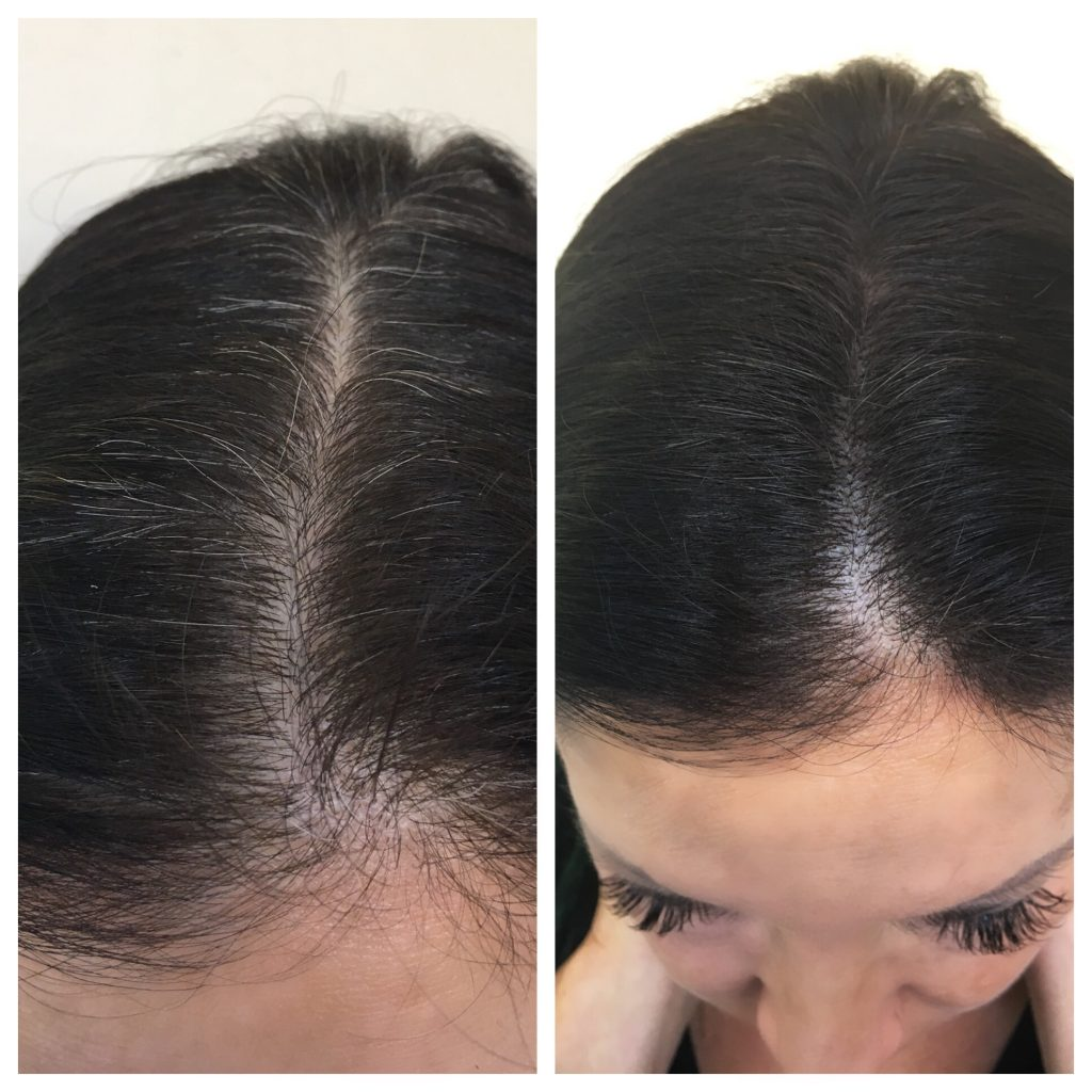 Gray Away Root Touch-Up Magnetic Powder allows you to easily camouflage your pesky gray hairs in between hair color appointments for under ten bucks!