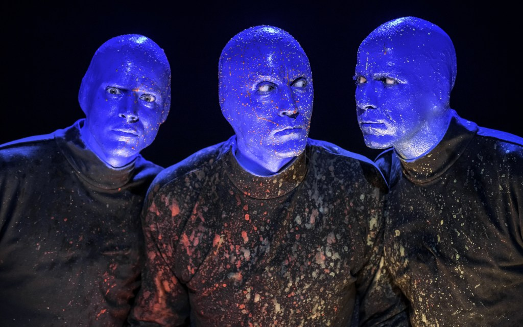 The world renowned Blue Man Group known for their innovative performance art make their Los Angeles debut now through October 6, 2019