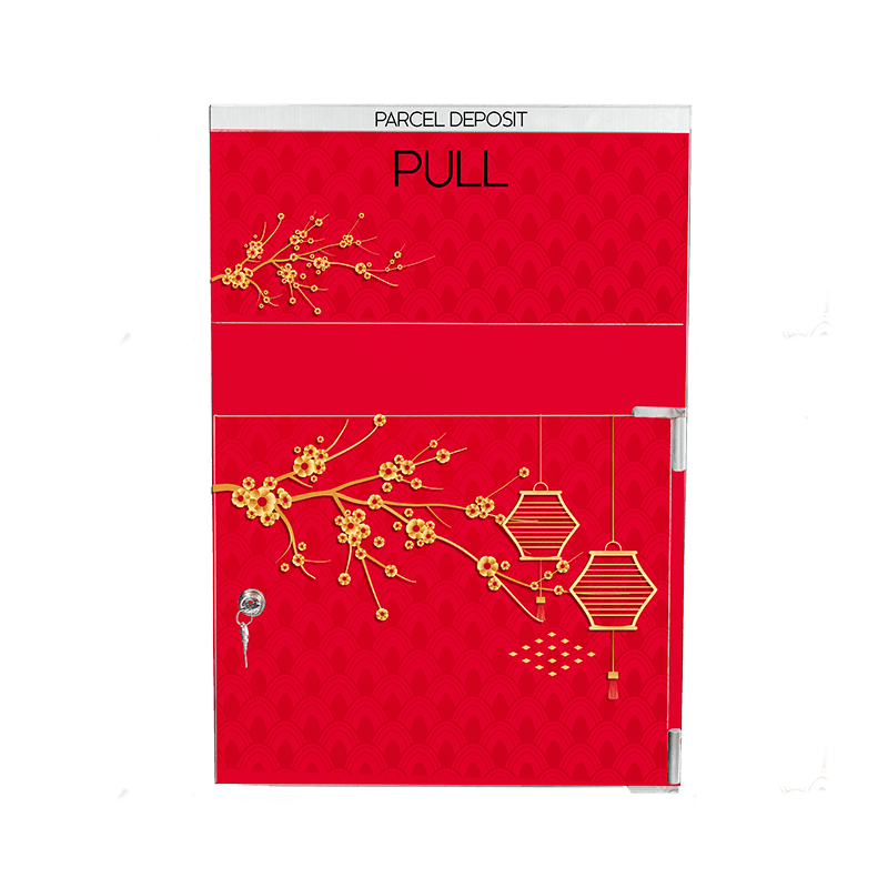 Parcel box Chinese inspiration