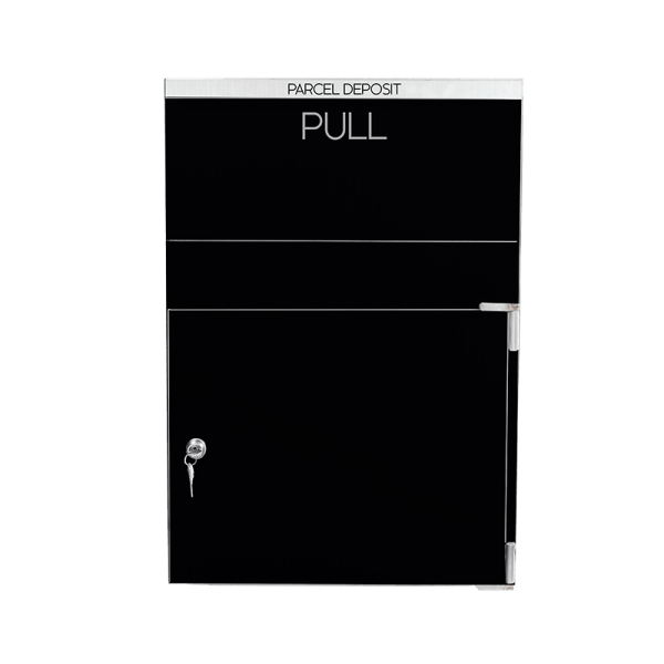 Black Large secured parcel box
