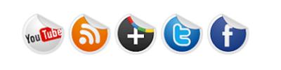 حصريا  إضافة أزرار الشبكات الأجتماعية متحركة و دائرية بتأثيرات CSS3 لمدونة بلوجر