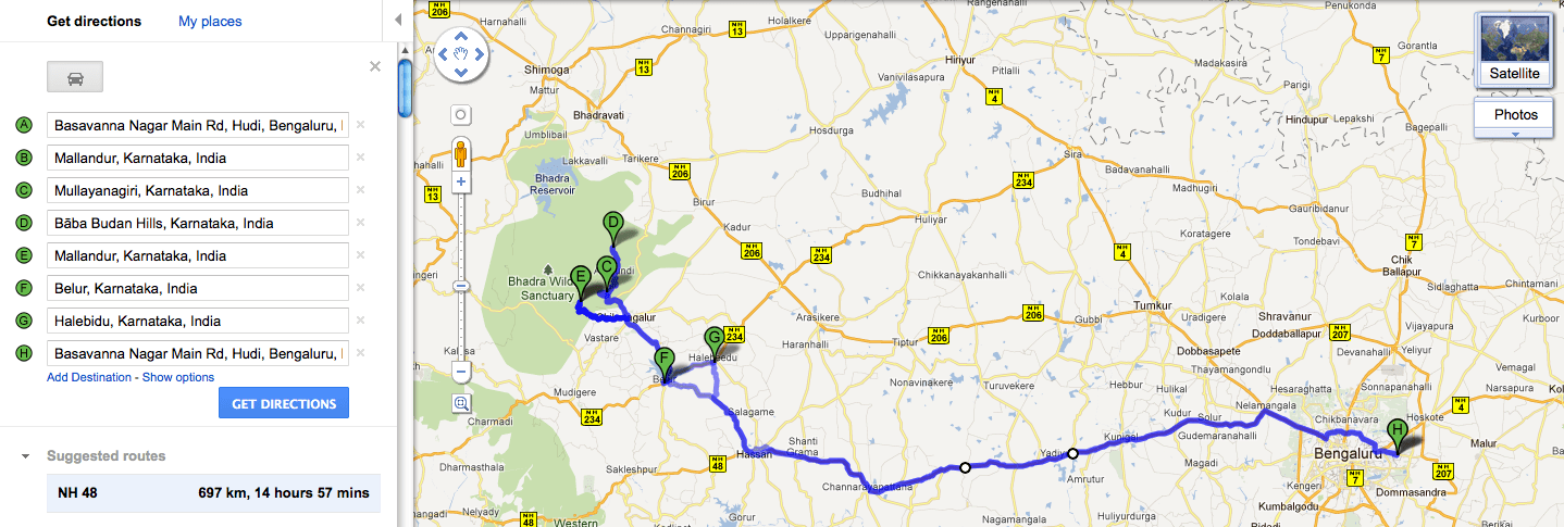 Travelogue Chilly Chikmagalur And Detour To Ancient Hoysala - Chikmagalur map