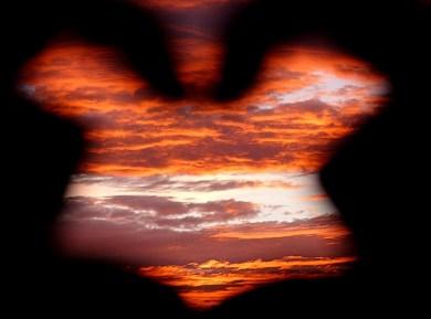 Sunset through my fingers
